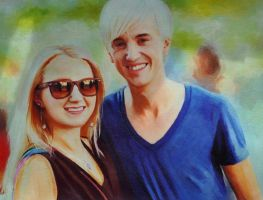 Evanna Lynch and Tom Felton by L3xil3in