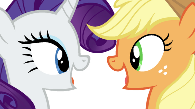 Rarity and AppleJack by CatherineCurse