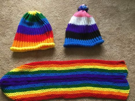 Pride Hats and Scarf by 4Damien