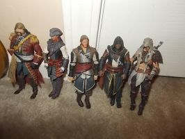 my assassin's Creed figures by AKATSUKIGIRL47