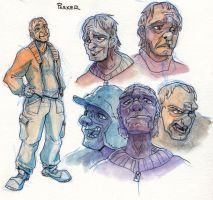Parker sketches by FablePaint