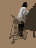 Woman Looking at Produce by characterundefined