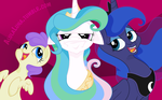 Alula and Luna  The Trio by Faikie