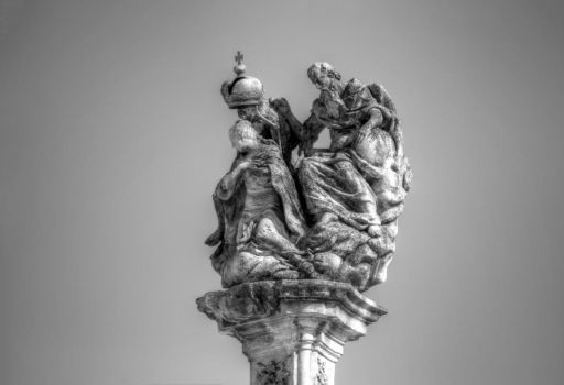 The Holy Trinity statue - detail by duleantovi