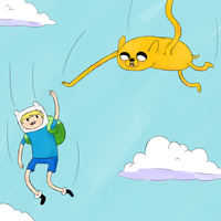 High Fiving Sky Diving by RoboticAlice58