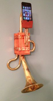 Steampunk Wall hanging iPhone Dock by Macabre151