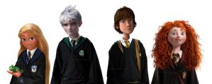 The Big Four Hogwarts AU by Milady666