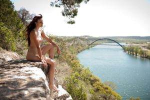 On a cliff in Austin by louisphoto