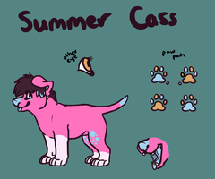 Summer Cass Reference Sheet by CassMutt