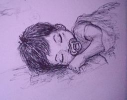 Sketch of Sleeping Baby by comichelle