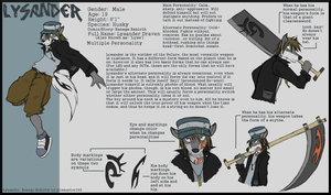 Lysander Ref Sheet by Hipster-Coyote