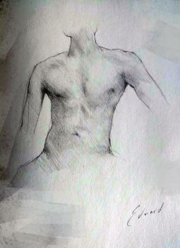 Minipad Sketch Male chest by kungfoowiz