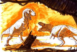 Tyrannosaurus markers by Red-Dilopho