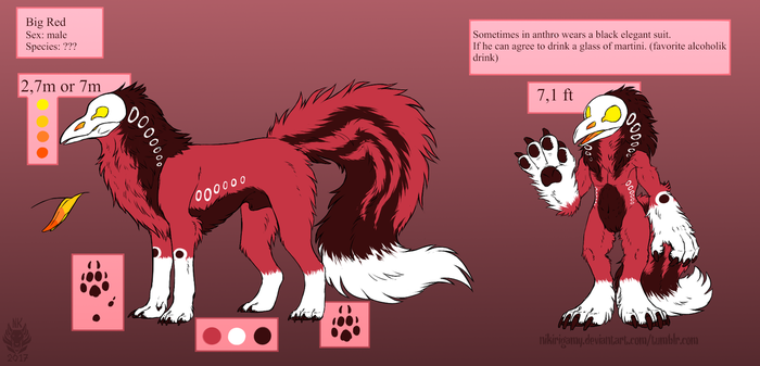 Big Red Reference Sheet by NiKirigamy