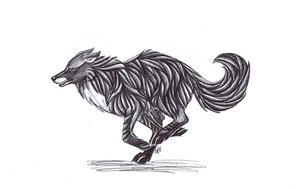 ::Running Pen Doodle:: by Ashenee