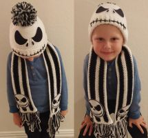 Jack the Pumpkin King Crochet Hat and Scarf by jscollon