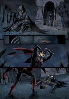 Batman page 1 color by P-JoArt