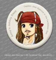 Jack Sparrow Pin by amoykid