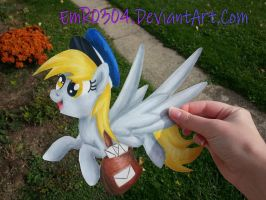 Art trade: mail mare derpy paper pony by EmR0304