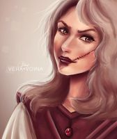 sketch (the girl with the scar) by VeraVoina