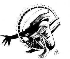 Xenomorph Alien by MichaelPowellArt