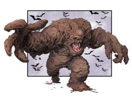 Capullo's Clayface colored by Doug Garbark by DougGarbark
