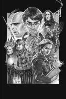 Deathly Hallows Poster BW by CAMartin