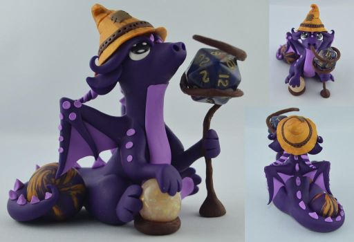 The Dragon Magician by claymeeples