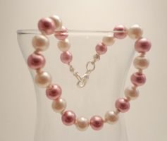 Handknotted Pink Pearl Bracelet 15 by TheSortedBead