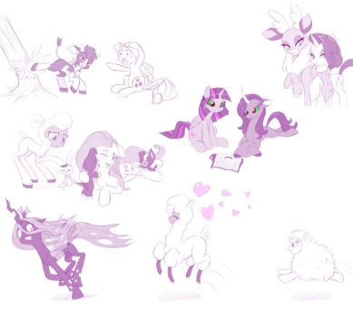 Thems Fightin Herds Sketchdump by dstears
