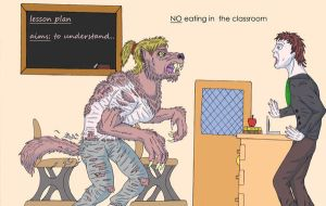 no eating in the classroom by dragonbex