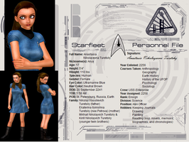 Starfleet Personnel File - Anya by capta77