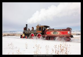 Union Pacific #119 at Promontory 4 by CheshirePhotographer