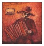 accordionist by Slawekgruca