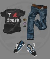 T-shirt n' jeans by ThatCrookedMind