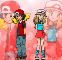 Ash and Serena by Darku909