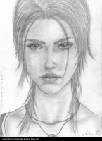 Lara Croft drawing by AndRay-BF