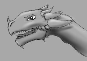 Quick Dragon Sketch by Nazgul991