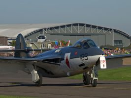 Hawker Sea Hawk Duxford by davepphotographer