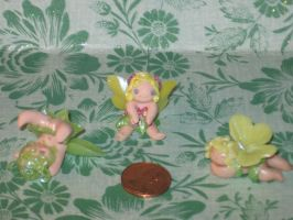 Polymer Clay Fairies by LaLaBears