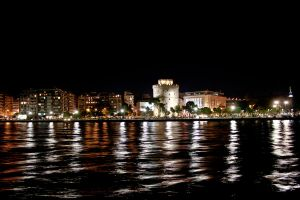The White Tower by night by Silisav