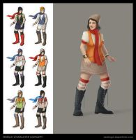 Female Character Concept by CDrice
