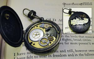 age echos - steampunk locket by TheClockworkCrow