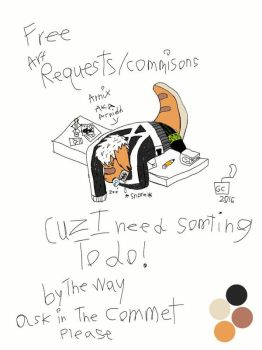 Free art requests/commissions by Geekycreeper2002