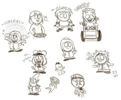 South Park Doodlies 3 by dustindemon