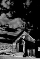 Infared Church by Caitiekabob