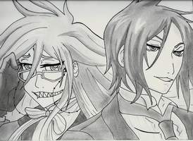 Grell and Bassie by Kegrat