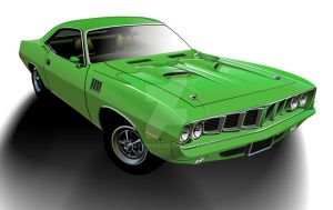 1971 Plymouth 'Cuda - Green by CRWPitman