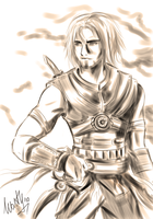 Prince of persia  - sketch by MartyIsi