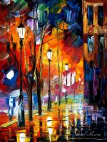When city sleeps by Leonid Afremov by Leonidafremov